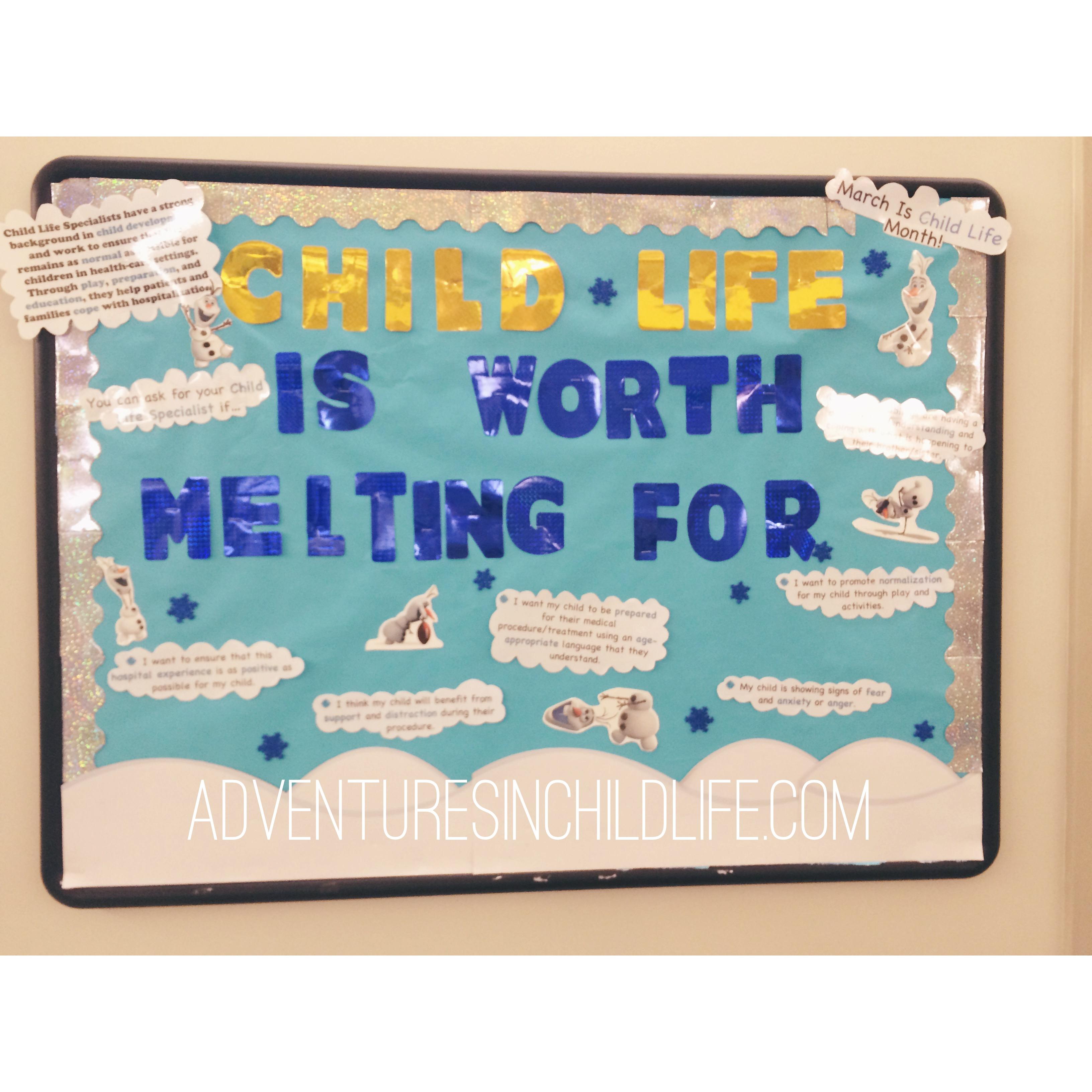 Child life month!